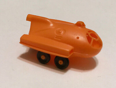 R&L CEREAL TOY ~ SPACE AGE 1969 ~MOON BUGGY ~ ORANGE, no AERIAL ~ RARE KELLOGGS