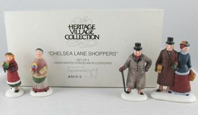 Dept. 56 Heritage Village Collection - Chelsea Lane Shoppers (Set of 4) #5816-5