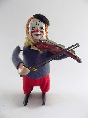 Antique Schuco Windup Clown With Violin Ref 555/4