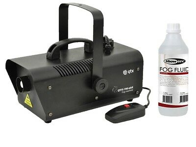 QTX QTFX 700 MKII High Performance 700W Smoke Fog Machine & 1L Fog Fluid