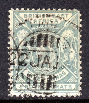 British East Africa QV 1896-1901  3a Grey SG69 Used Cat £15