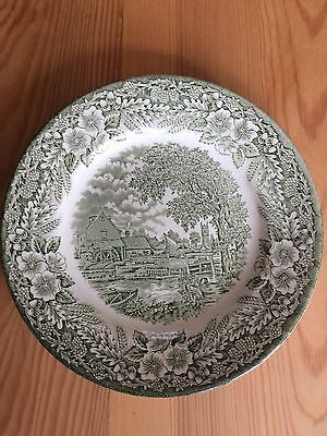 "Broadhurst Ironstone ""The Constable"" series England Green Plates (Set of 4)"
