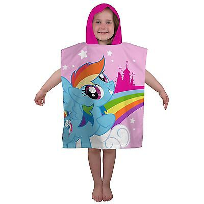 Official My Little Pony Equestria Poncho Hooded Towel - Childrens 100% Cotton
