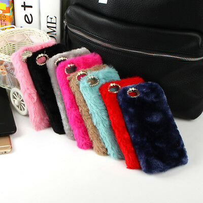 NEW Plush Hard Case Cover Fuzzy Warm Skin for iPhone 7 8 plus 6 6S PLUS