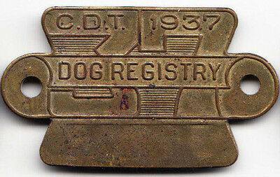 1937 Chicago Illinois dog license tag