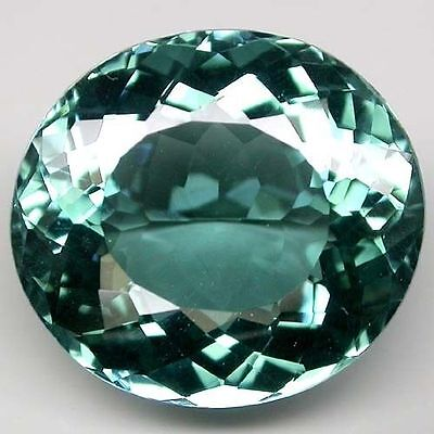 20.5x17mm OVAL-FACET DEEP BLUE/GREEN NATURAL AFRICAN AQUAMARINE GEM (APP £1,870)