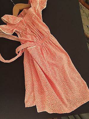 Vintage 1950's French School Apron Girl Dress Smock Pinafore  Old Stock