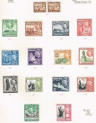 SG 217-231 part set to 10/-, mounted mint, most attractive