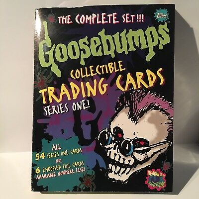 Goosebumps Collectible Trading Cards Series 1-complete Set W/ Exclusive FOILS