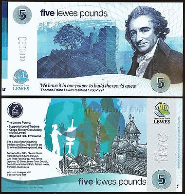 England - Lewes - Banknote, celebrates local Brewery. Local UK Currency, UNC