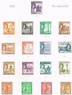 SG 266-282 set to £1 all mounted mint - very attractive