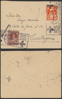 Spain 1925 - Red Cross cover Madrid 24340
