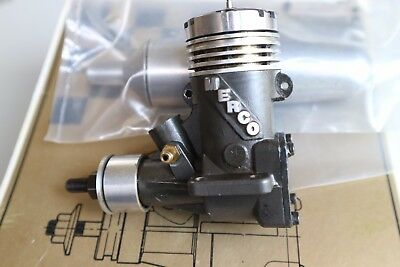 Merco 35 Control Line Stunt model glow engine, boxed with muffler & instructions
