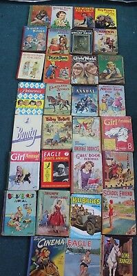 Job Lot of Vintage Annuals Mixed 1950s-60s Inc Lone Ranger  (Hospiscare)