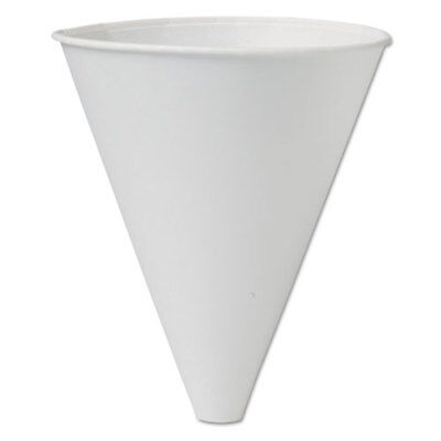 SOLO Bare Eco-Forward Treated Paper Funnel Cups 10oz. White 250/Bag 4 Bags