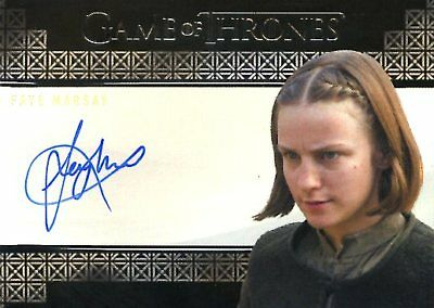 Game Of Thrones Valyrian Steel VALYRIAN AUTOGRAPH card FAYE MARSAY as WAIF