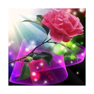 "Diamond Painting - Diamant Malerei - Stickerei - ""Rose"" - Set - Neu (503)"
