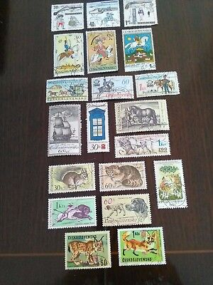 20 Used Stamps Of Ceskoslovensko