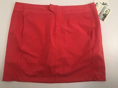 Moving Comfort 'lipstick' Coral Pink Workout Athletic Skort Skirt Women's XL NEW