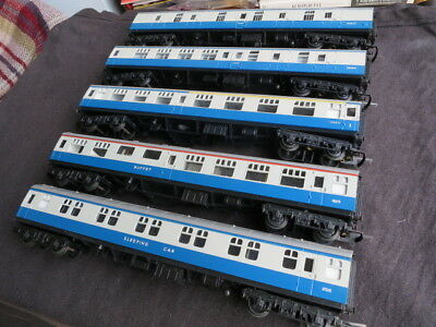 5x Triang BR MkI Inter-City coaches Brake Comp Brk 3rd Diner Sleeper: excellent!