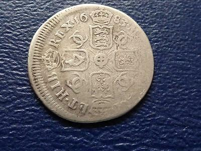 Charles 11 Silver Sixpence 1683 Mis Struck Error Great Britain Uk