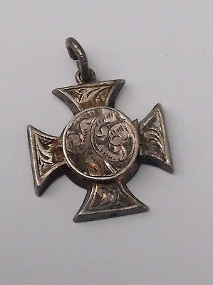 Silver Victorian Chester Locket Pendant Excellent