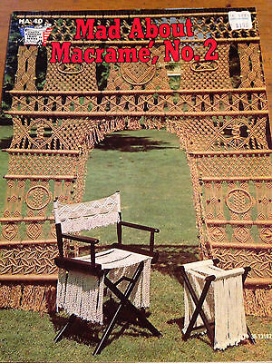 Mad About Macrame #2 Plant Hangers Vintage Patterns Instructions
