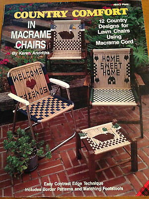 Country Comfort in Macrame Chairs Lawn Pattern Book #8443 12 Designs