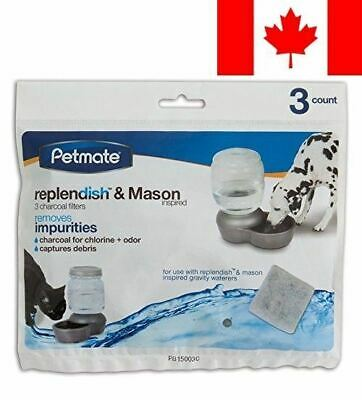 Petmate 24836 Replendish Charcoal Replacement Filters, 3-Pack