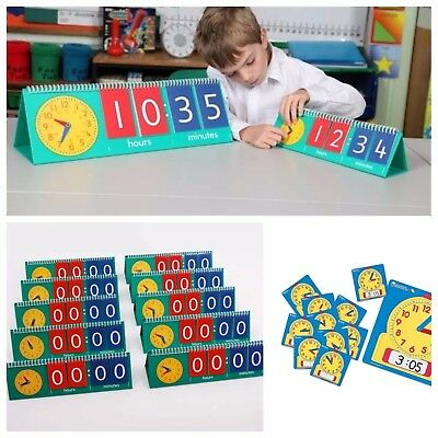 Tell/Teach The Time Flip Clock Maths Home Education/schooling Resource