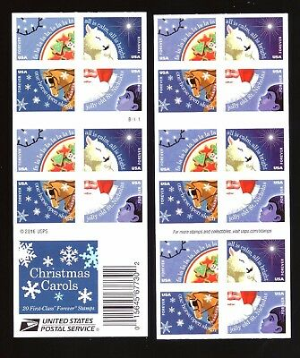 "US - Booklet of 20 - ""2017"" Christmas Carols - Forever Stamps - MNH"