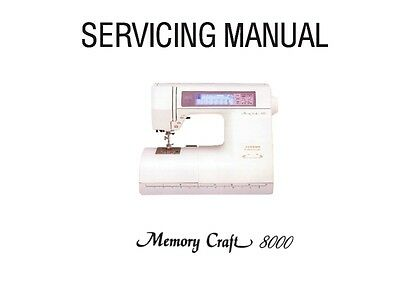 Janome 8000 New Home Master Craft 8000 Service Manual
