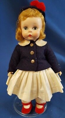 "Vintage Madame Alexander Doll 8"" Wendy Ready for A Plane Trip SLW 1955 #452"