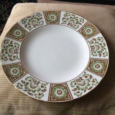 """Royal Crown Derby""""Derby Green Panel"""" A1237 265mm Dinner Plate 1971Vgc"""