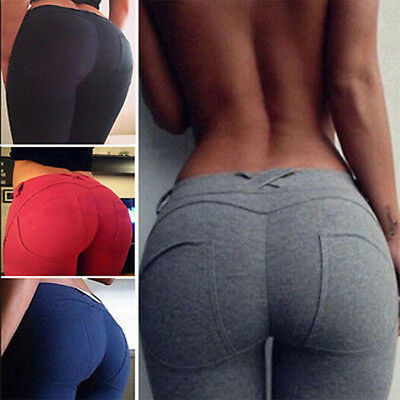 Women PUSH UP Active Yoga Leggings Fitness Sport Gym Jogging Pants Trouser L952