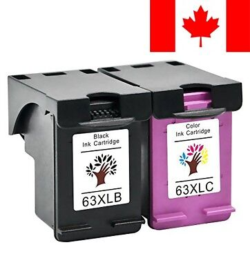 GREENSKY 2Pack (1B1C) Remanufactured Ink Cartridge Replacements for HP 63XL fit
