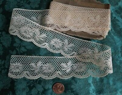 """Wide Val Antique French lace trim 3 yards +18"""""""