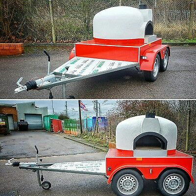 @ Side oven entrance design @ MOBILE WOOD FIRED PIZZA OVEN * FORNO TRAILER