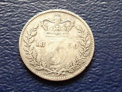 Queen Victoria Silver Threepence 1850 3D Great Britain Uk