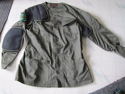 Mens 10-X shooting coat hunting jacket size 44 XL rubber padding Nosler patch