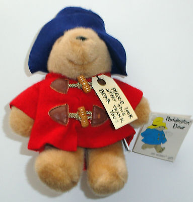 9 Inch Stuffed Paddington Bear Eden Darkest Peru Red Coat Vintage