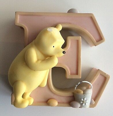 Classic Pooh Winnie The Pooh Alphabet Letter E Pink