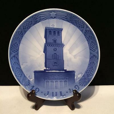 Ch4075 Royal Copenhagen July 1949 Denmark Christmas Plate Our Lady's Cathedral