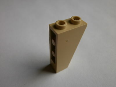 part no 3665 6x Lego Slope Brick 45° 2 x 1 Inverted in Md Dk Flesh