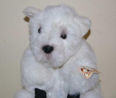 White West Highland Terrier Bag Back Pack Soft Plush Toy - New & Card Tagged