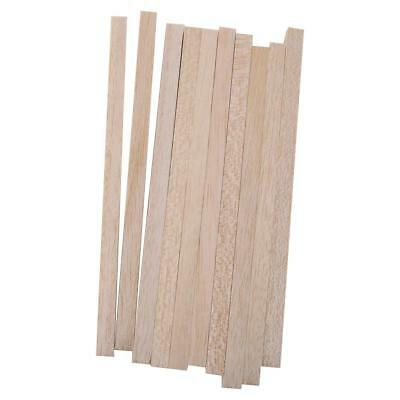 10pcs Wooden Sticks Craft Hobbies Rods Balsa for Wood Working 10mm x 200mm