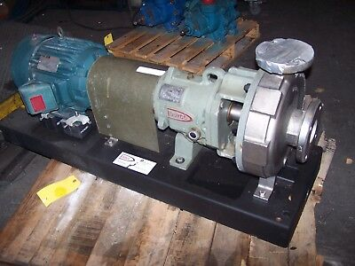 Durco Flowserve 7.5 Hp Stainless Steel Centrifugal Pump 2K3X2-10A/85  75 Tdm