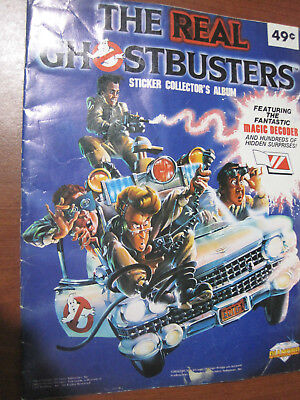 Real Ghost Busters sticker album  1986