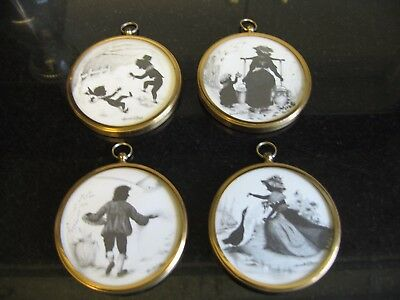 4 Small Silhouette Pictures Georgian Four Seasons Marcelle D Shears