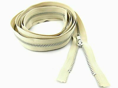 Extra Long Metal YKK Open Ended Separating Zip for Sleeping Bags, Camping Tents